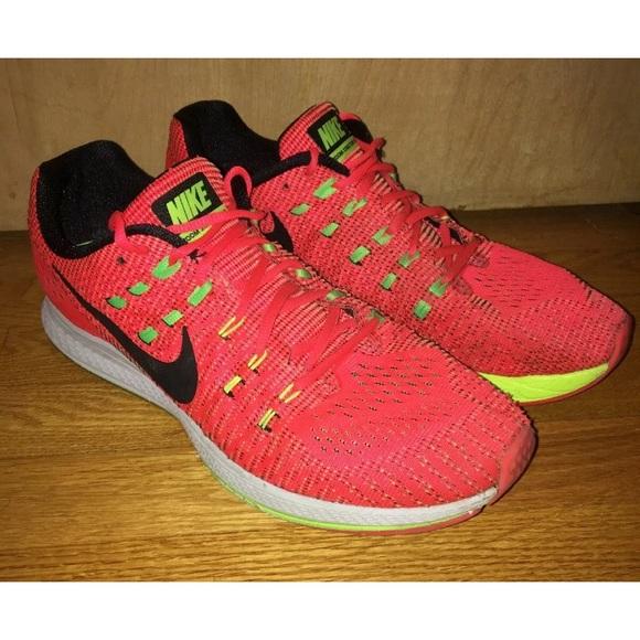 Nike Air Zoom Structure 19 Crimson Volt Mens Sz 12